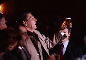 President Reagan Enjoying a Coors
